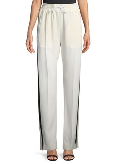 Burberry Side-Striped Crepe Jogger Pants