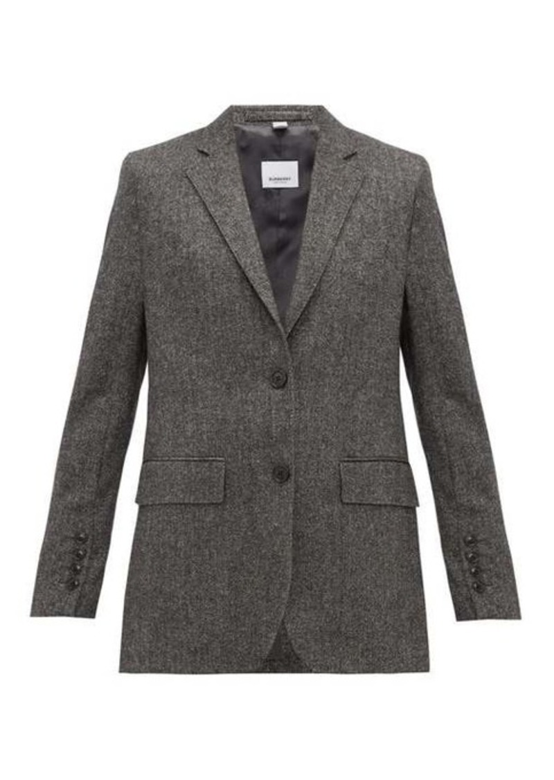 Burberry Sidon single-breasted wool-blend blazer