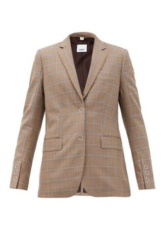 Burberry Sidon single-breasted check wool jacket
