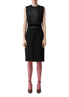 Burberry Silk Double-Skirt Dress