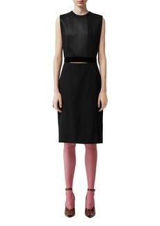 Burberry Silk Double-Skirt Dress