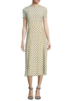 Burberry Silk Polka Dot Dress