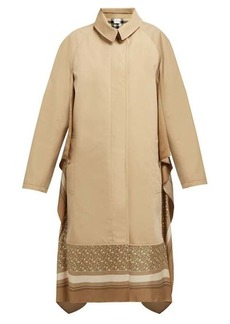 Burberry Silk-trimmed cotton-gabardine car coat