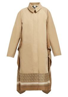 Burberry Silk-trimmed cotton-gabardine car coat