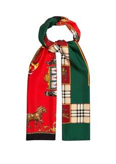 Burberry Silk-twill printed scarf