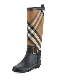 Burberry Simeon Check-Print Rain Boot