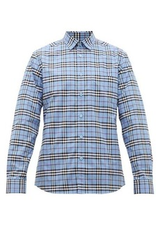 Burberry Simpson House-check cotton-blend shirt