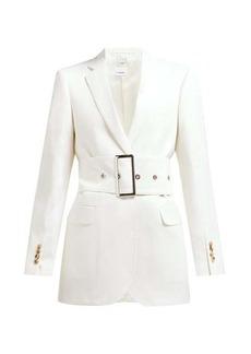 Burberry Single-breasted belted wool-poplin blazer