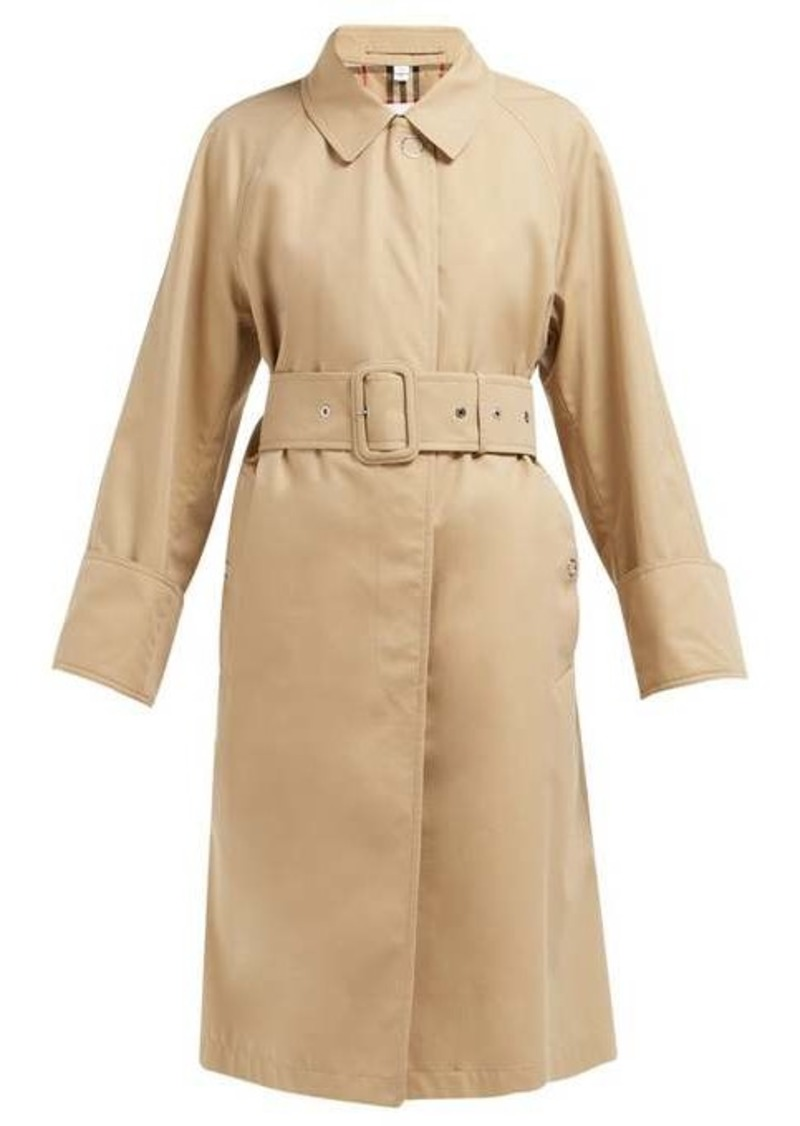 Burberry Single-breasted cotton-gabardine trench coat