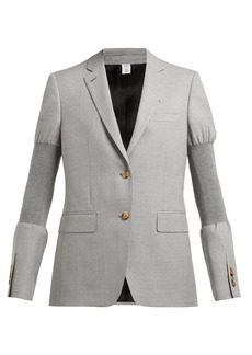 Burberry Single-breasted ribbed-panel wool blazer