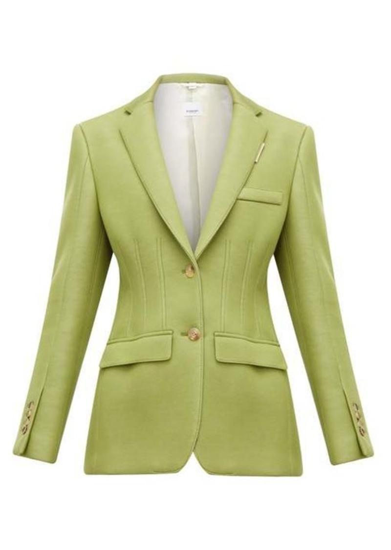 Burberry Single-breasted tailored-scuba blazer