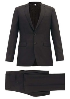 Burberry Single-breasted wool-blend crépe suit