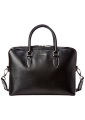 Burberry Slim Barrow Leather Briefcase