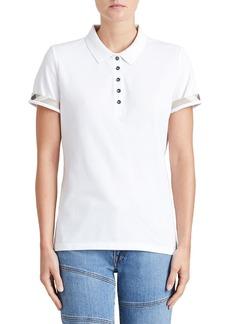 Slim-Fit Polo Shirt with Check Trim