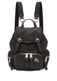 Burberry Small logo-plaque backpack