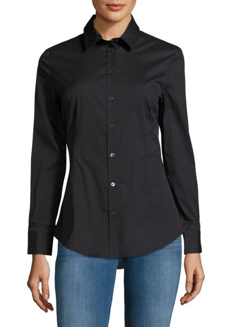 Burberry Burberry Solid Casual Button Down Shirt Casual