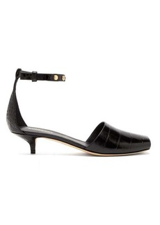 Burberry Stadling crocodile-effect leather pumps