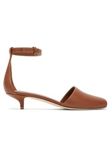 Burberry Stadling peep-toe leather pumps