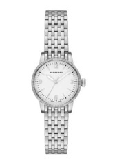 Burberry Stainless Steel Check-Dial Bracelet Watch