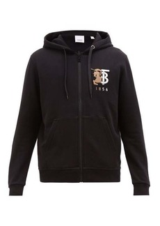 Burberry Stockley logo-embroidered cotton hooded sweatshirt