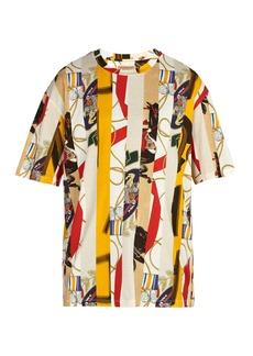 Burberry Stripe printed-cotton T-shirt