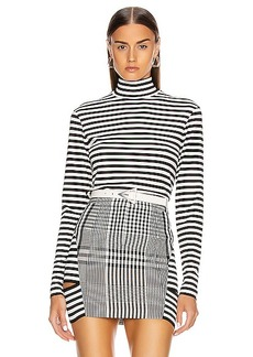 Burberry Stripe Turtleneck Top