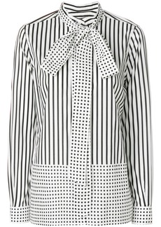 Burberry striped and polka dot blouse - White