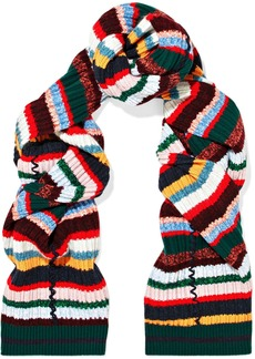 Burberry Striped ribbed-knit scarf
