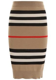 Burberry Striped Wool Skirt