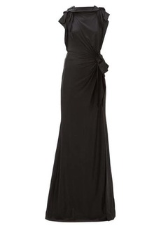 Burberry Summers draped cross-back satin dress
