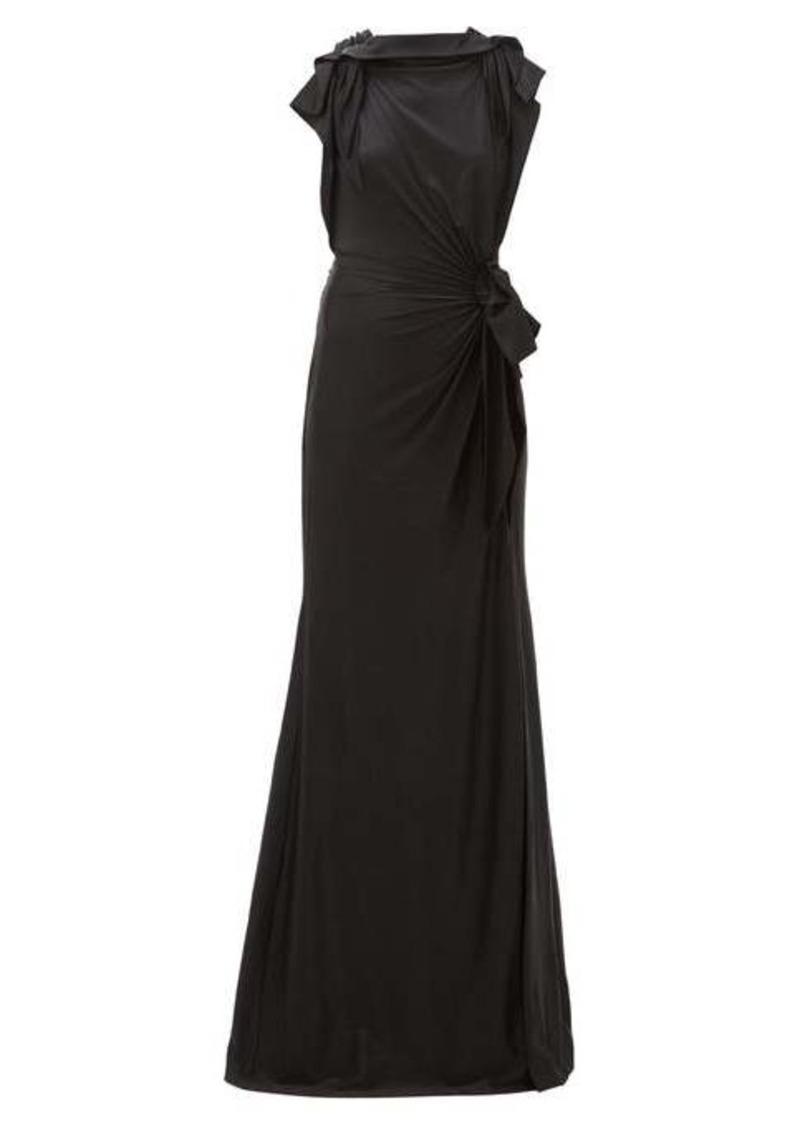 Burberry Summers draped cross-back satin dress