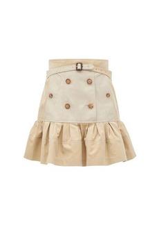 Burberry Suzy peplum-hem cotton-gabardine mini skirt