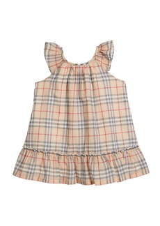 Burberry Taia Flutter-Sleeve Check Dress  Size 1-24 Months