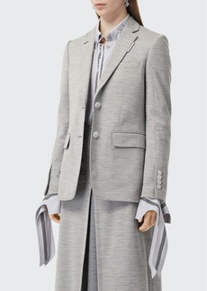 Burberry Tailored Jersey Blazer Jacket