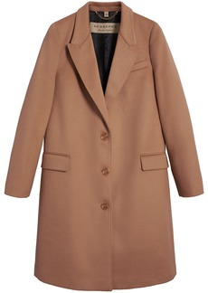Burberry tailored single-breasted coat - Brown
