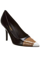 Burberry Tape Detail Leather Pump