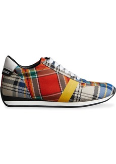 Burberry Tartan Cotton Sneakers - Multicolour