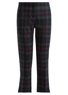 Burberry Tartan wool-blend cropped trousers