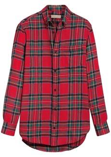 Burberry tartan wool shirt - Red
