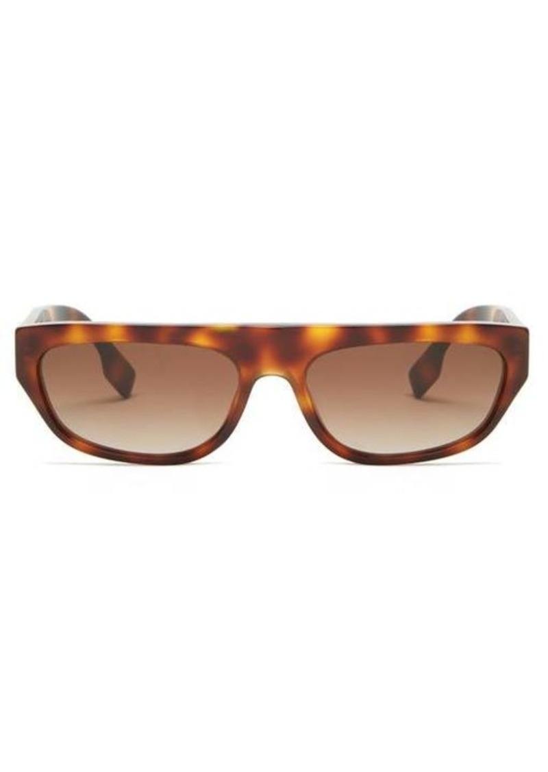 Burberry TB flat-top cat-eye acetate sunglasses