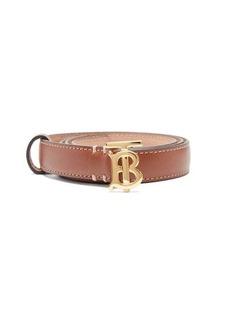 Burberry TB logo-plaque leather belt