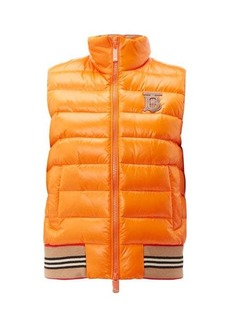 Burberry TB-logo quilted technical-shell gilet
