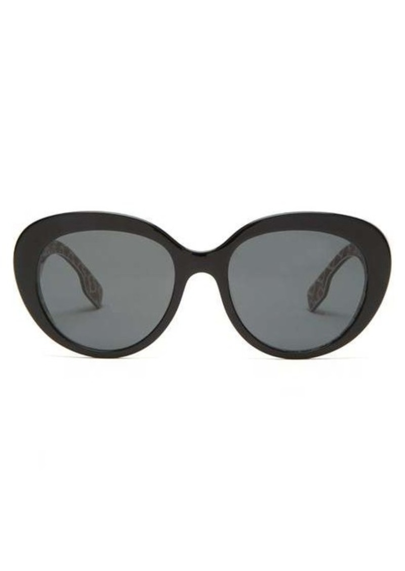 Burberry TB monogram-print round acetate sunglasses