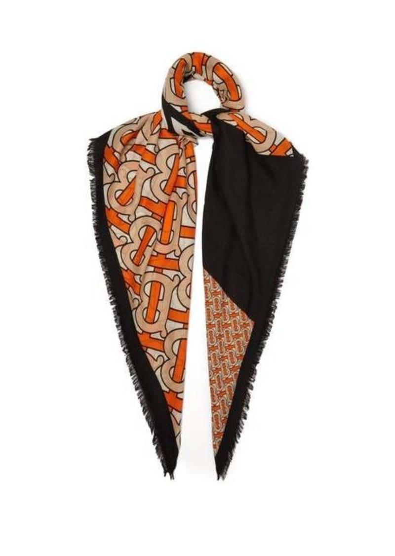 Burberry TB-print cashmere scarf