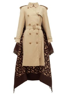 Burberry TB wool-blend and cotton trench coat