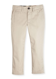 Burberry Teo Straight-Leg Twill Pants