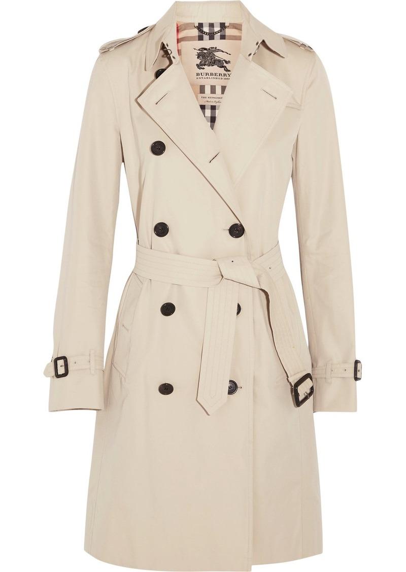 c5ba982b6 Burberry Burberry The Kensington Long cotton-gabardine trench coat ...