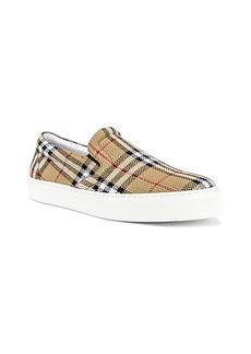 Burberry Thompson M Check Slip On Sneaker