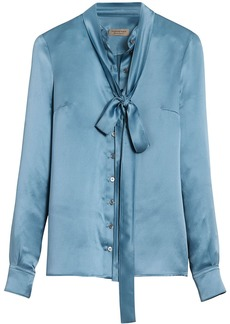 Burberry tie-neck shirt - Blue