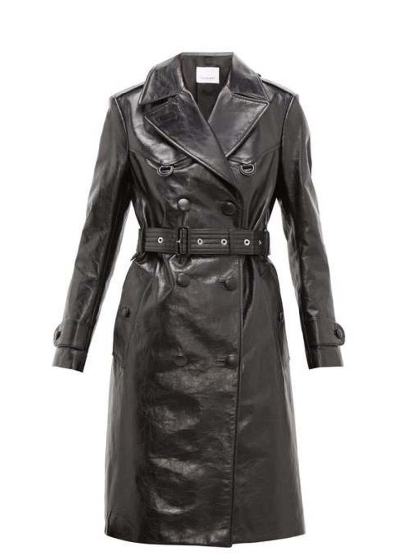 Burberry Tintagel double-breasted leather trench coat